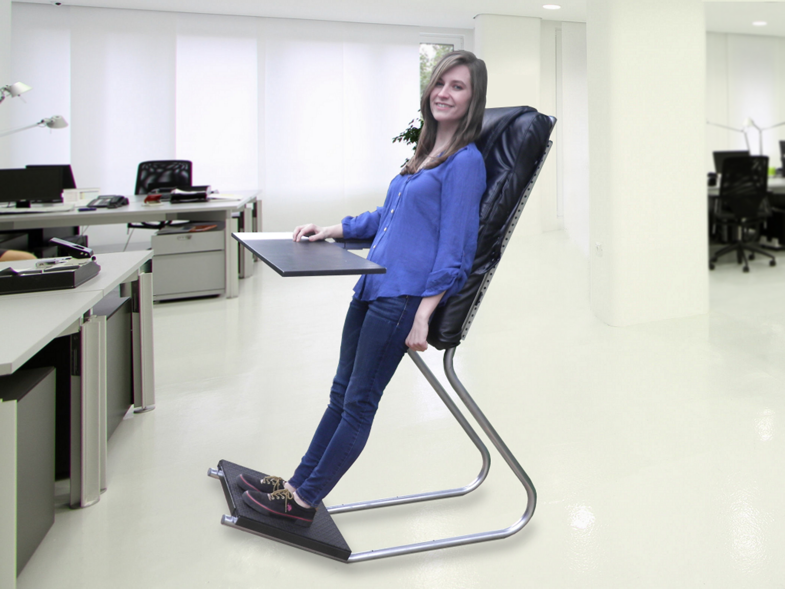 LeanChair: The portable, reclining standing desk