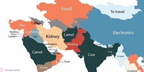 The most Googled products in every country in one crazy map