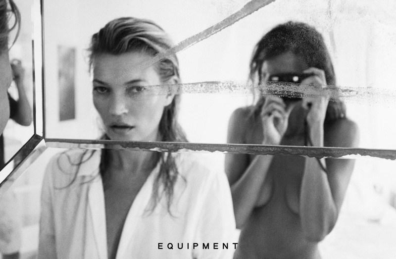 KATE MOSS FOR EQUIPMENT LOOKBOOK |
