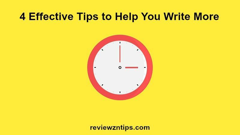 4 Effective Tips to Help You Write More | Erik Emanuelli