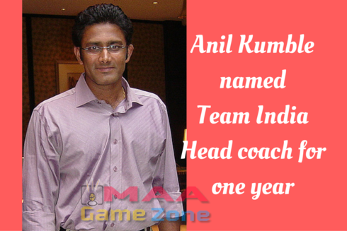 Anil Kumble named Team India head coach for one year
