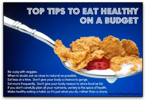 Top tips to eat healthy on a budget - The Happy Guy