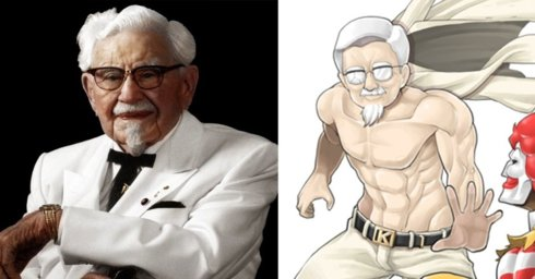 Did You Know Colonel Sanders Has Bonkers Anime Fanart in Japan?