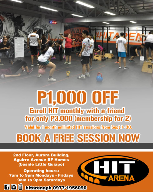 Fit & Strong with HIT ARENA at Paranaque and Shaw Boulevard