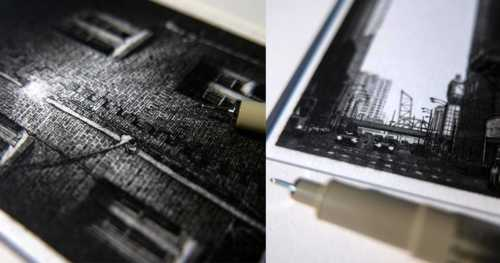 Miniature Pen & Ink Drawings of the Midwest by Taylor Mazer