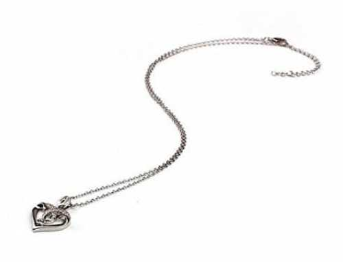 Sterling Silver Necklace with Heart Shape Pendant                                     It gives a... via michael jones