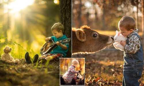 Self-taught photographer captures incredible snaps of his young kids