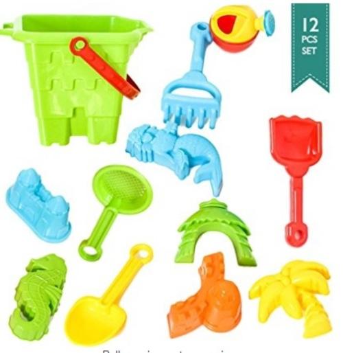 BIG Sand Bucket 12-Pcs Molds & Tools for Sand Boxes                                     Sale: $1... via michael jones
