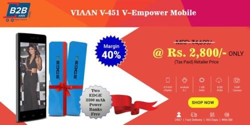 Shop VIAAN V-451 V–Empower 4.5 inch Mobile worth ₹4,699/- at... via b2b adda
