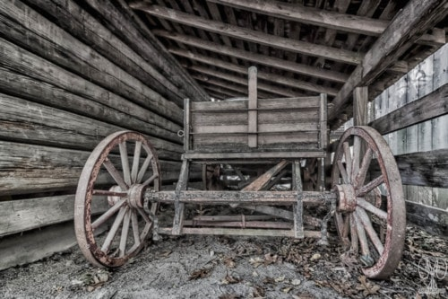Old Wagon Under the Leaning Roof via Janice McGregor