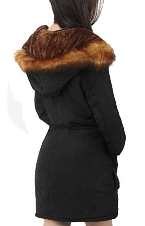 Parka Coat With Hood for Women Black Olive green UK via Rebs Katten