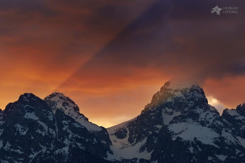Light Rays Through The Tetons via Mike Berenson
