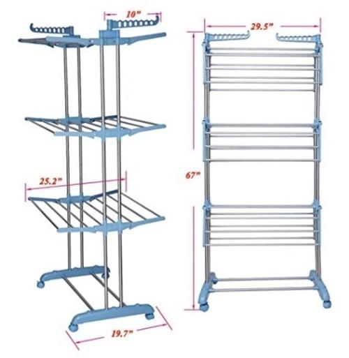 foldable clothes drying rack via michael jones