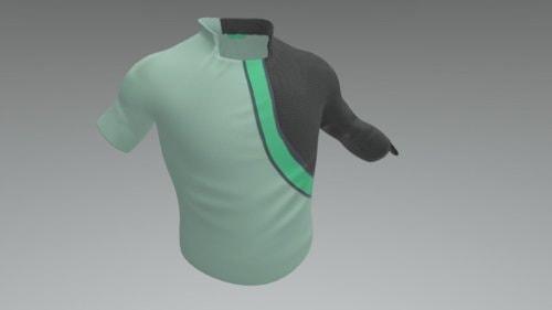 PC Male Starter Shirt by MonteDrebenstedt - 3D model