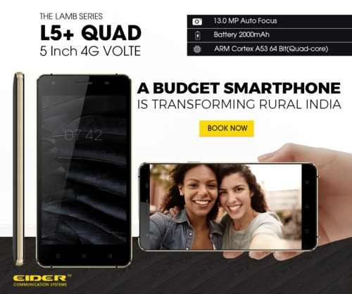Shop fo the latest EIDER L5+ QUAD smartphone launched with g... via EIDER INDIA