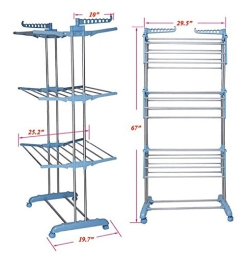 Tommly Stainless Steel Foldable Clothes Drying Rack                                     https://... via michael jones