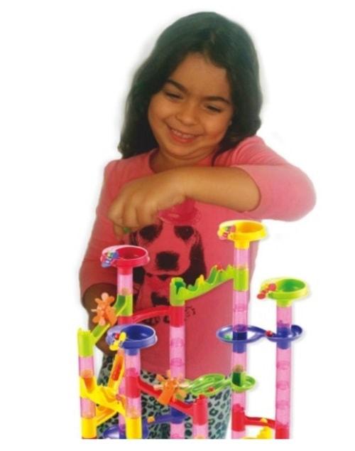 Marble Run Coaster 106 BIG Elements Kit 76 Blocks+30 Plastic... via michael jones