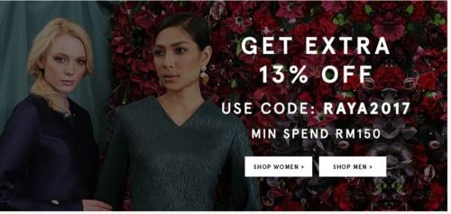 Extra 13% OFF Raya Sale For Women Fashion via Ronald