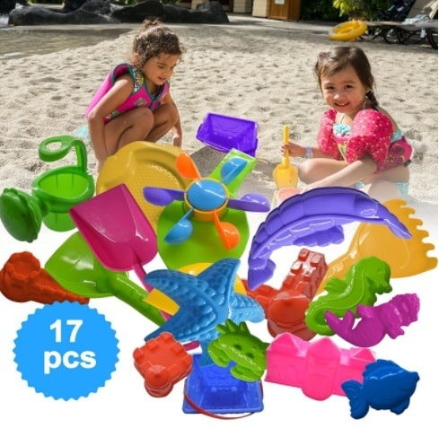 Sand Bucket 17 Elements, Molds & Tools for Sand Boxes, Water... via michael jones