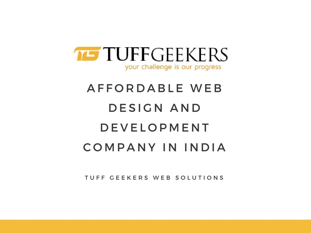 Affordable Web Design and Development Company via Tuff Geekers Web Solutions