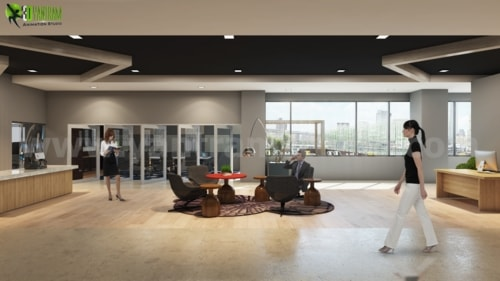 Incredible Modern Office Interior Waiting Area Tips via Yantram Studio