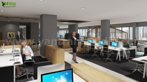 Commercial Modern Interior Office Design Ideas for your comm... via Yantram Studio