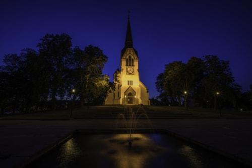 Katrineholm church in Sweden.                                                                          #tornephoto #church #nightsho... via Lars-Ove Törnebohm