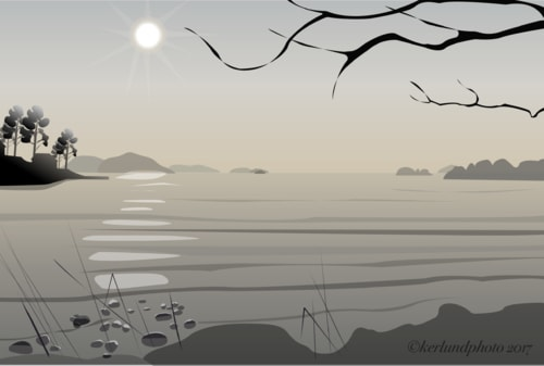 Morning sun in the archipelago                                                                          #art #design #life #calmness via L Kerlund