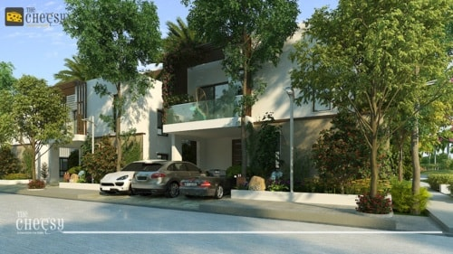 3D Resort Architectural Rendering via Vittoria Dmowska