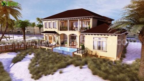 Residential 3D Elevation Rendering Design Manchester, UK via Yantram Studio