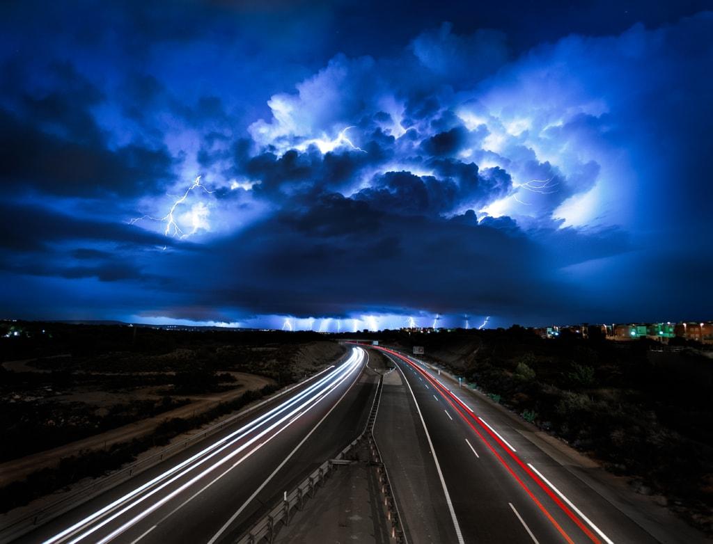 """The Perfect Storm""                                         Intense storm over the village of Almora... via Peter Földiak"