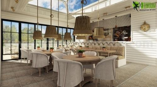 Awesome Bar & Restaurant Design Ideas by Yantram Interior Re... via Yantram Studio