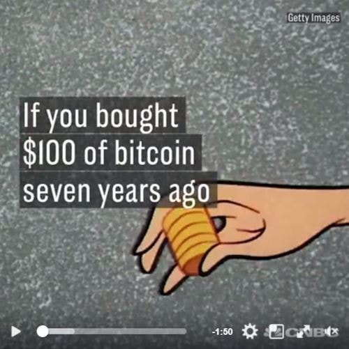 If you bought $100 of bitcoin 7 years ago                                                                                                                                                    #Cryptocurrency... via Colin Sydes