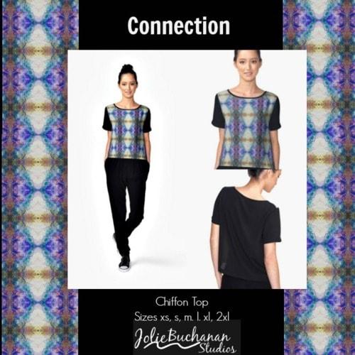 Connection Women's Chiffon Top via Jolie Buchanan