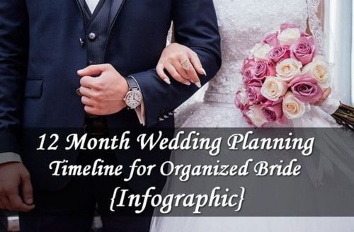 12 Month Wedding Planning Timeline for Organized Bride {Infographic}