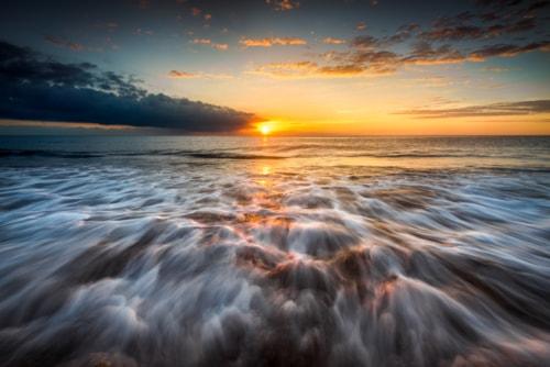 """Morning by the sea""                                     Sunrise by the coast of the mediterrane... via Peter Földiak"