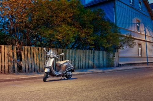Lonely Scooter By The Street via Jukka Heinovirta
