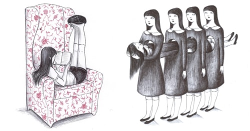 Quirky Illustrations by Virginia Mori Blend Melancholy and Surreal Humor
