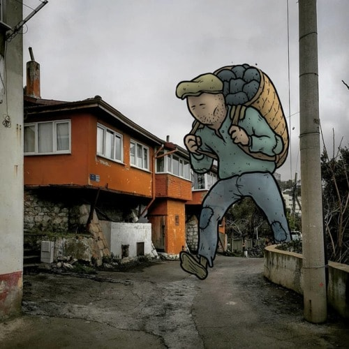 An Architect Who Illustrates The Secret Life Of Giants In The Streets Of Turkish Cities
