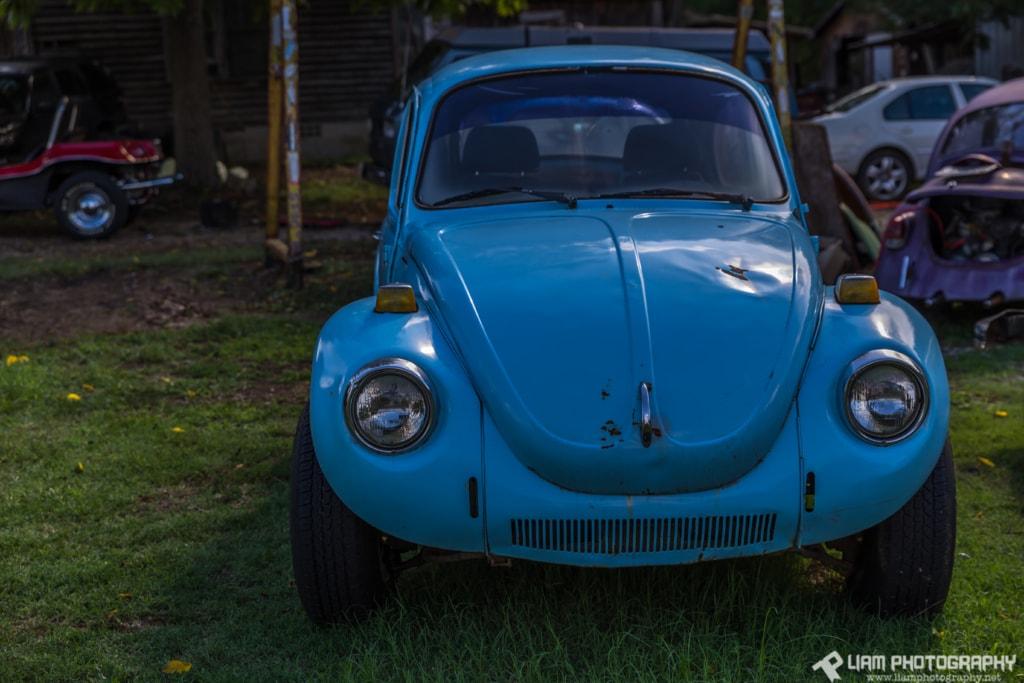 Old Blue VW Beetle via Liam Douglas - Professional Photographer