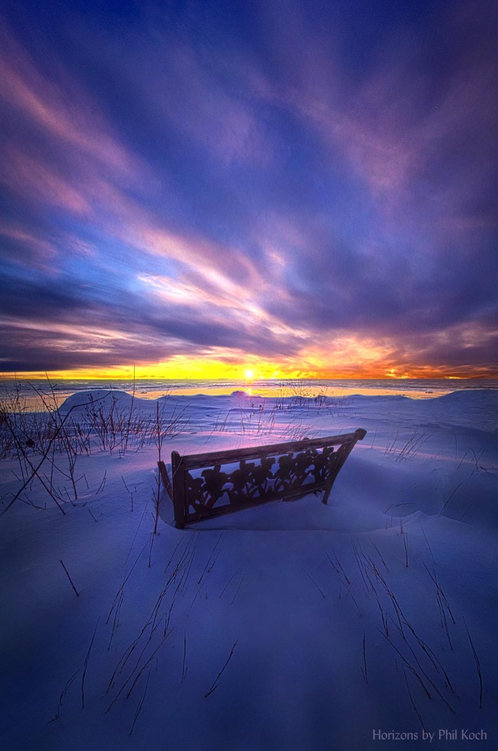 Sunrise on the shore of Lake Michigan.                                         Wisconsin Horizons By... via Phil Koch