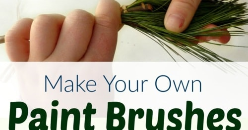 DIY Nature Paint Brushes for Kids