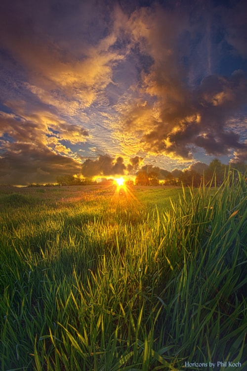 """""""Where The Grass Is Always Greener""""                                     Wisconsin Horizons by Ph... via Phil Koch"""