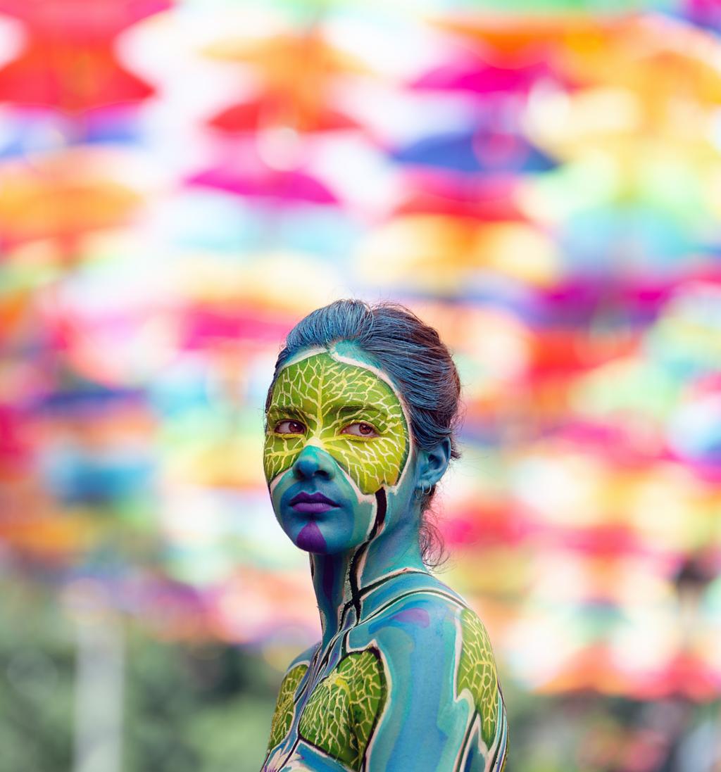 Painted girl via Through the eyes of Sérgio Gonçallo