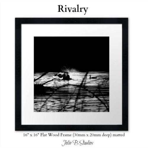Rivalry Framed Print via Jolie Buchanan