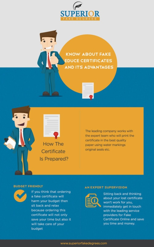 Know about fake educe certificate and its advantages via Eva taylor