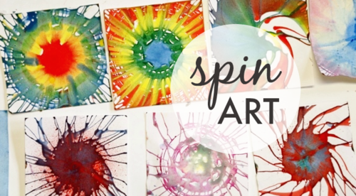 Spin Painting with Kids - One of Our All-Time Favorite Kids Art Activities