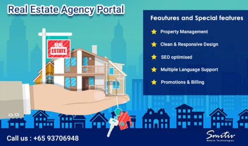 Real Estate Agency Portal Software via smitiv