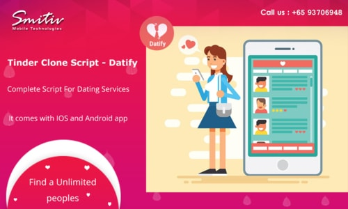 Tinder Clone Script - Datify via smitiv