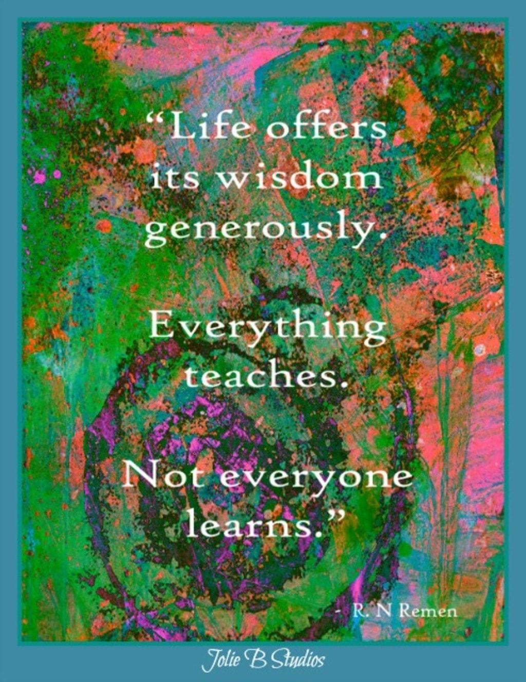 Life's Wisdom via Jolie Buchanan